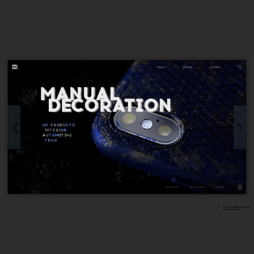 Web Page Design. «Macro – Manual Decoration»